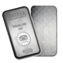 One piece 1 kilo 0.999 Fine Silver Bar Geiger Security Series