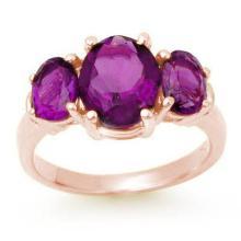 Natural 6.15 ctw Amethyst Ring 10K Rose Gold - 13692-#28P8X