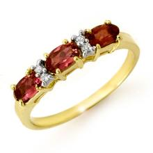 Genuine 0.83 ctw Pink Tourmaline & Diamond Ring 10K Yellow Gold - 13717-#21F5M