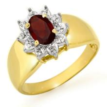 Genuine 0.50 ctw Garnet Ring 10K Yellow Gold - 12663-#14V3A
