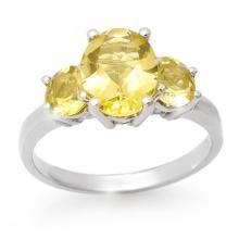 Genuine 2.55 ctw Citrine Ring 10K White Gold - 13671-#19N5F