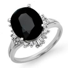Genuine 3.88 ctw Blue Sapphire & Diamond Ring 18K White Gold - 14113-#53Y5V
