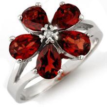 Natural 2.52 ctw Garnet & Diamond Ring 10K White Gold - 10540-#16X7Y