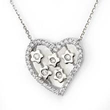 Genuine 0.45 ctw Diamond Necklace 18K White Gold - 10930-#47P4X