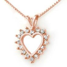 Natural 1.0 ctw Diamond Pendant 18K Rose Gold - 13383-#61R3H