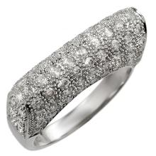 10K White Gold Jewelry 2.0 ctw Diamond Anniversary Ring - SKU#U55R1- 1135- 10K