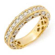 Natural 1.0 ctw Diamond Ring 14K Yellow Gold - 11744-#71A6N