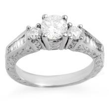 Genuine 1.01 ctw Diamond Bridal Engagement Ring 14K White Gold - 11347-#103W3K