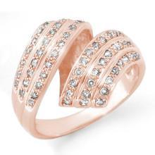 Natural 0.70 ctw Diamond Ring 14K Rose Gold - 13698-#61V2A