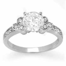 Genuine 0.86 ctw Diamond Solitaire Ring 14K White Gold - 14167-#78T2Z
