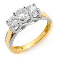 Genuine 0.75 ctw Diamond Bridal Ring 14K 2-Tone Gold - 10261-#67Y8V