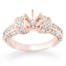 Natural 0.75 ctw Diamond Bridal Engagement Ring 14K Rose Gold - 13302-#59M3G