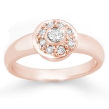 Natural 0.35 ctw Diamond Ring 14K Rose Gold - 14456-#38F8M