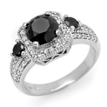 Genuine 2.60 ctw Black & White Diamond Bridal Ring 14K White Gold - 13471-#88R5H
