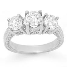 Natural 2.0 ctw Diamond Bridal Engagement Ring 18K White Gold - 13396-#324W2K