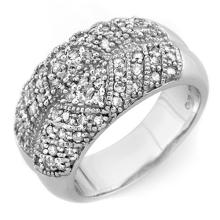 Natural 0.75 ctw Diamond Ring 10K White Gold - 11610-#59H3W
