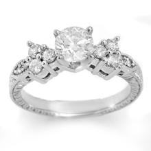 Genuine 1.14 ctw Diamond Bridal Engagement Ring 18K White Gold - 11499-#176G3R