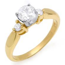 Genuine 0.75 ctw Diamond Solitaire Ring 14K Yellow Gold - 11631-#82Z2P