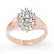 Genuine 0.25 ctw Diamond Ring 18K Rose Gold - 13393-#33X2Y