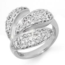 Natural 1.0 ctw Diamond Ring 18K White Gold - 14278-#108Y3V