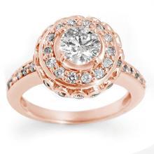 Natural 2.04 ctw Diamond Bridal Engagement Ring 14K Rose Gold - 11396-#277P5X