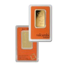 1oz Valcambi Suisse Gold Bar in Assay - .9999 Fine Gold