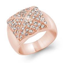 Genuine 1.0 ctw Diamond Ring 14K Rose Gold - 12841-#84W8K