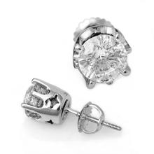 Natural 2.0 ctw Diamond Solitaire Stud Earrings 14K White Gold - 11162-#440F8M