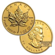 Brilliant Uncirculated 1oz Gold Canada Maple Leaf - Random date