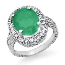 14K White Gold Jewelry 2.60 ctw Emerald & Diamond Ring - SKU#U41L4- 99408-14K