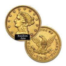 $2.5 Liberty Gold Coin - Quarter Eagles - 1840 to 1907 - Random date  - USJL9082