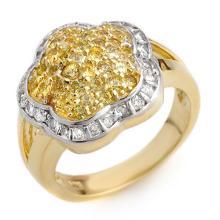 Genuine 1.50 ctw Yellow Sapphire & Diamond Ring 14K Yellow Gold - 10407 -#75M2G