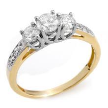 Natural 1.0 ctw Diamond Anniversary Ring 14K 2-Tone Gold - 10196 -#80K2T