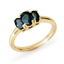 Genuine 1.0 ctw Blue Sapphire Ring 10K Yellow Gold - 12640-#17Y7V