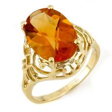 Natural 6.50 ctw Citrine Ring 10K Yellow Gold - 11157-#19M5G