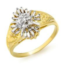 Natural 0.10 ctw Diamond Ring 10K Yellow Gold - 12819-#19T2Z