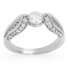Genuine 1.08 ctw Diamond Bridal Engagement Ring 18K White Gold - 11602-#107V8A