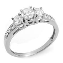 Natural 1.0 ctw Diamond Ring 14K White Gold - 10197-#80Z2P