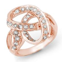 Natural 0.75 ctw Diamond Ring 14K Rose Gold - 13073-#61Z6P