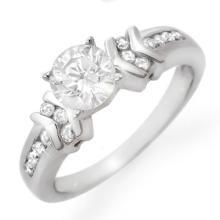 Genuine 1.10 ctw Diamond Bridal Engagement Ring 18K White Gold - 13430-#229Z2P