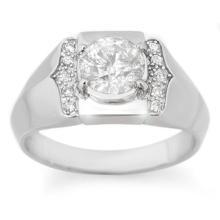 Genuine 1.65 ctw Diamond Men's Ring 10K White Gold - 14488-#494T4Z