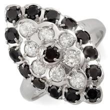Natural 2.0 ctw Black & White Diamond Ring 10K White Gold - 11713-#68M8G