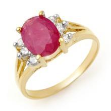 Genuine 2.48 ctw Ruby & Diamond Ring 14K Yellow Gold - 13720-#30G2R
