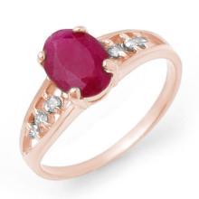 Natural 1.70 ctw Ruby & Diamond Ring 14K White Gold - 13958-#21Y2V
