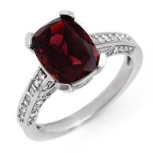 Natural 3.50 ctw Pink Tourmaline & Diamond Ring 10K White Gold - 11332-#68P5X