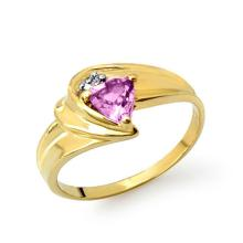 Natural 0.41 ctw Amethyst & Diamond Ring 10K Yellow Gold - 13244-#13M2G