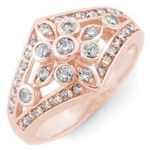 Natural 0.75 ctw Diamond Ring 14K Rose Gold - 11007-#53M8G