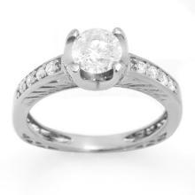 Genuine 1.10 ctw Diamond Bridal Engagement Ring 18K White Gold - 11660-#148F8M