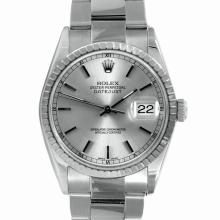 Pre-owned Mint Condition Rolex Men's Stainless Steel DateJust Silver Dial Watch - #242K5A