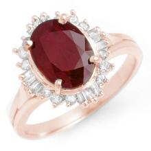 Natural 2.55 ctw Ruby & Diamond Anniversary Ring 14K Rose Gold Size 6.5 - #30F2G